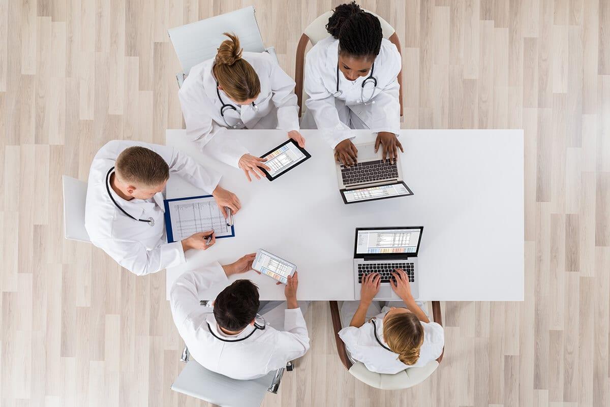 Medical billing team meeting